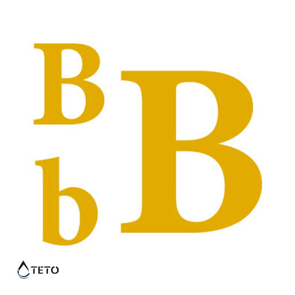 Písmeno B – metalické – set