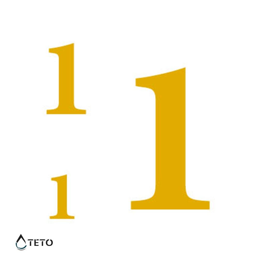 Číslo 1 – metalické – set