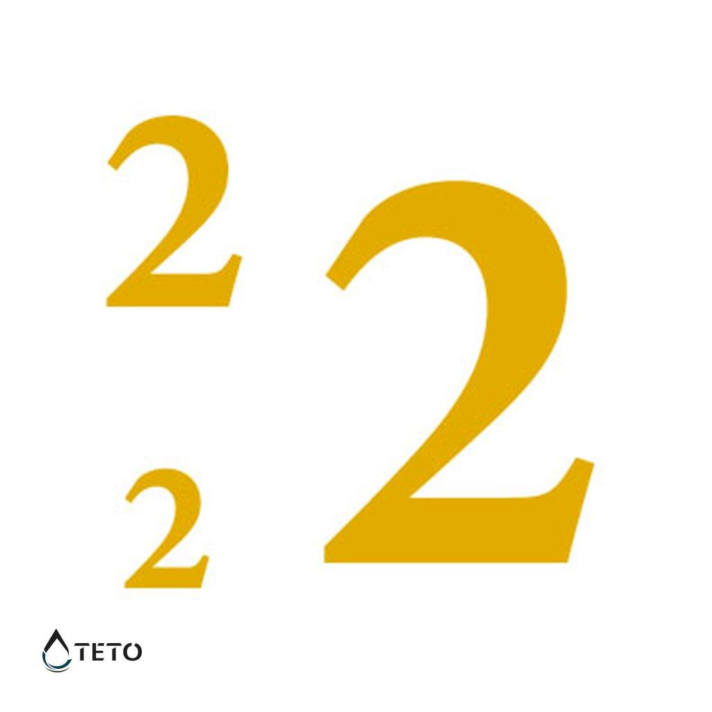 Číslo 2 – metalické – set