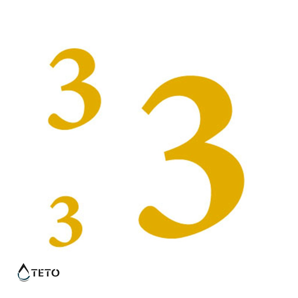 Číslo 3 – metalické – set