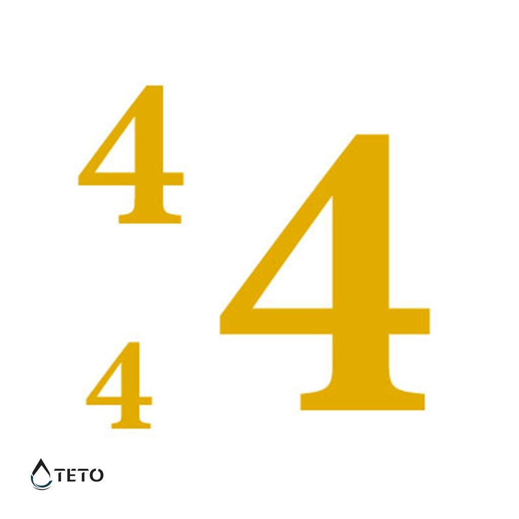 Číslo 4 – metalické – set