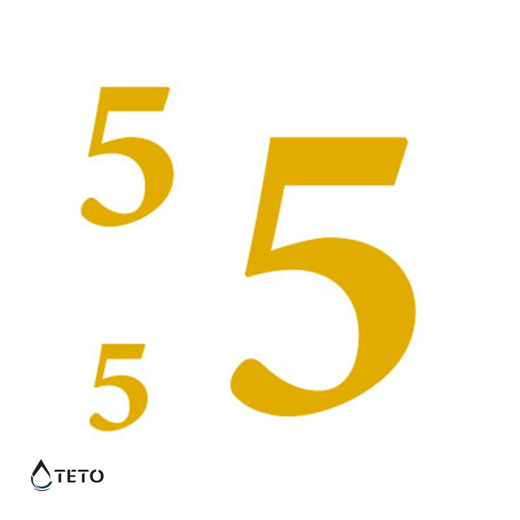 Číslo 5 – metalické – set