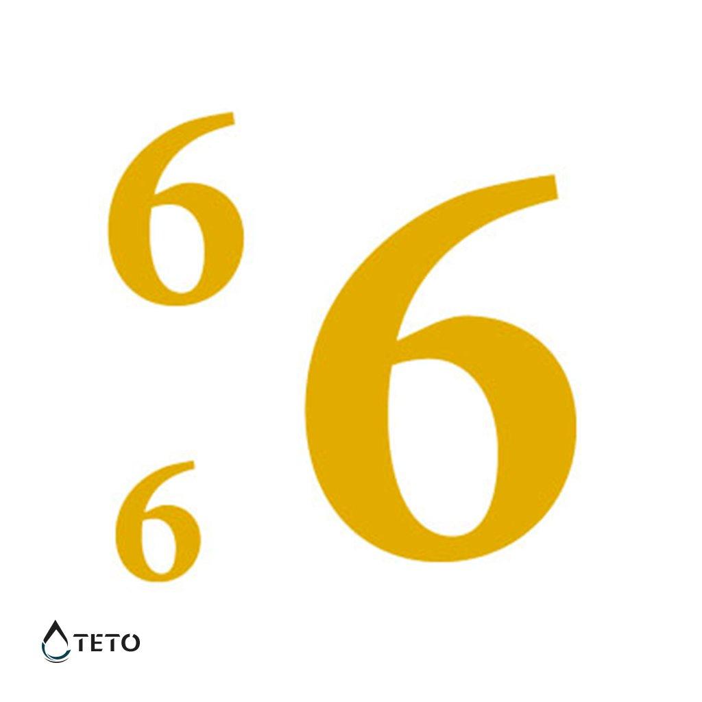 Číslo 6 nebo 9 – metalické – set