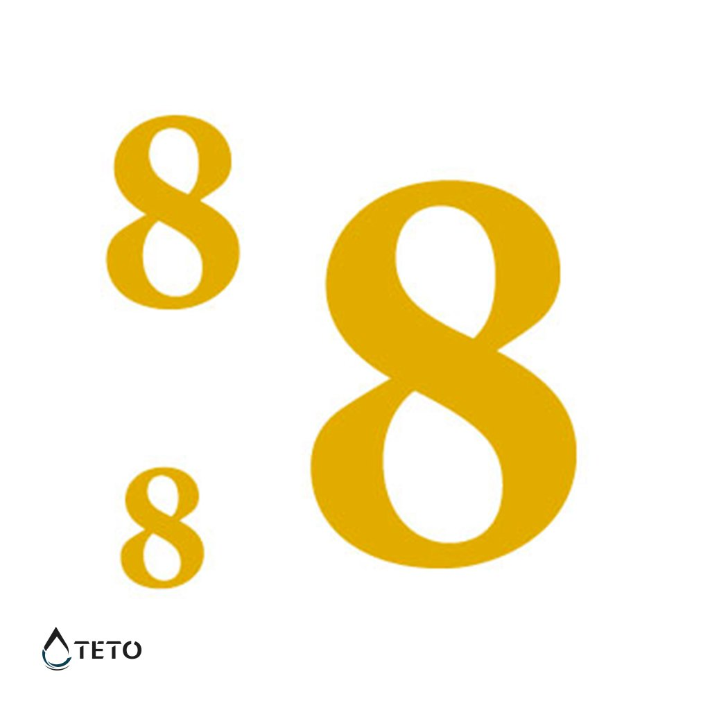 Číslo 8 – metalické – set