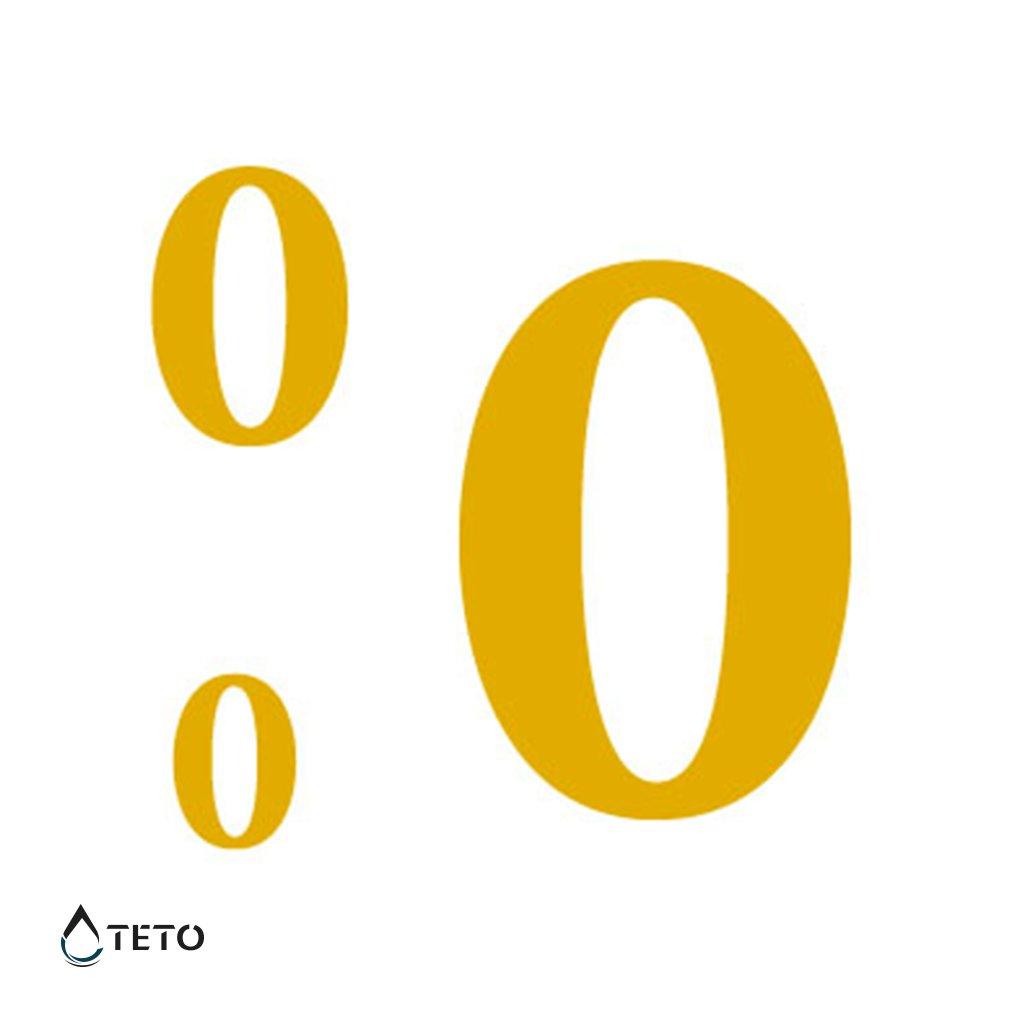 Číslo 0 – metalické – set