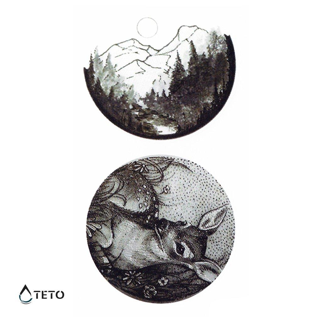 Laň a hory v kruhu - set