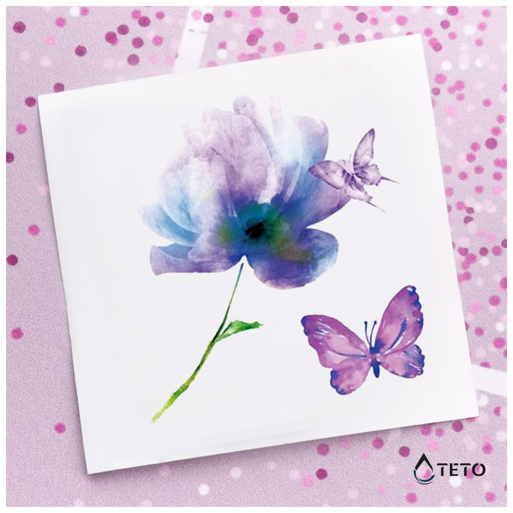 Květina a motýl – set