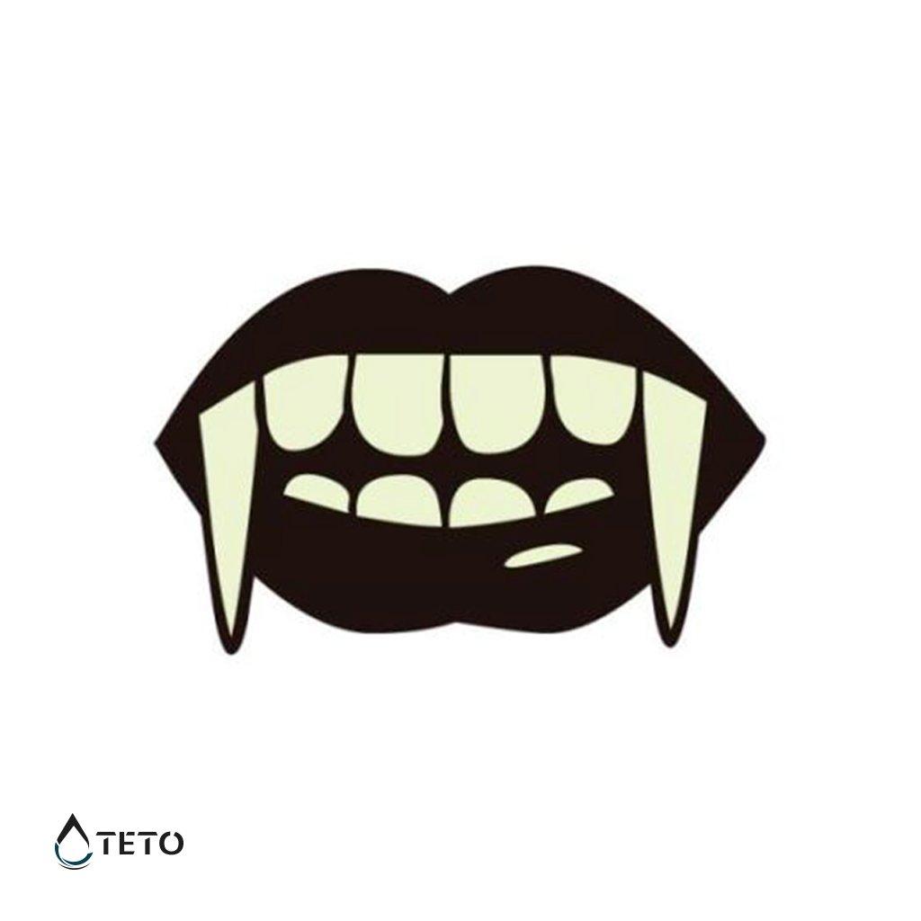 Upíří zuby - svítící