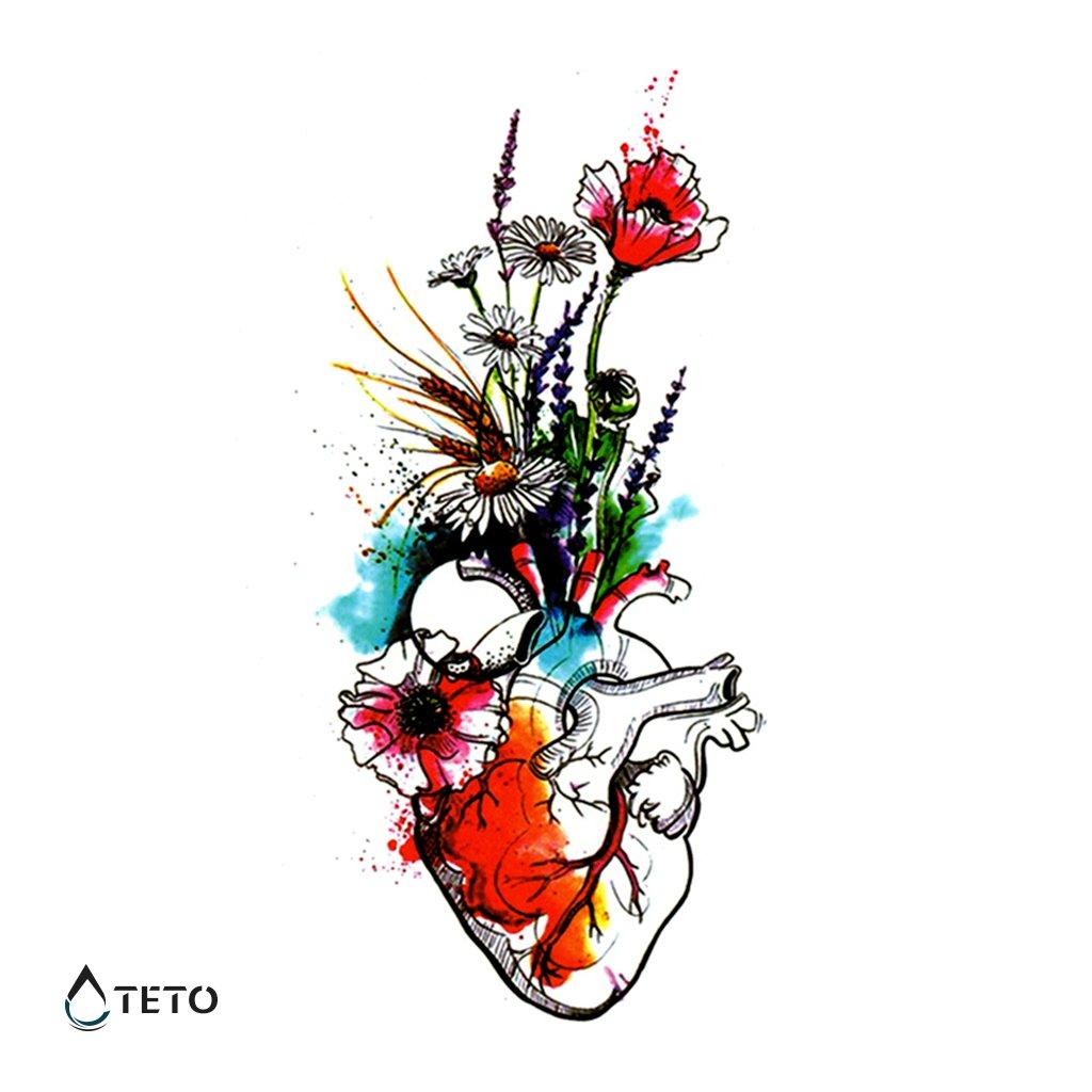 Srdce – květiny