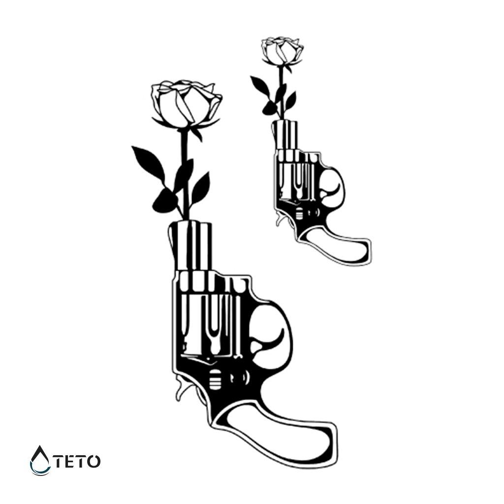 Zbraně, růže - set