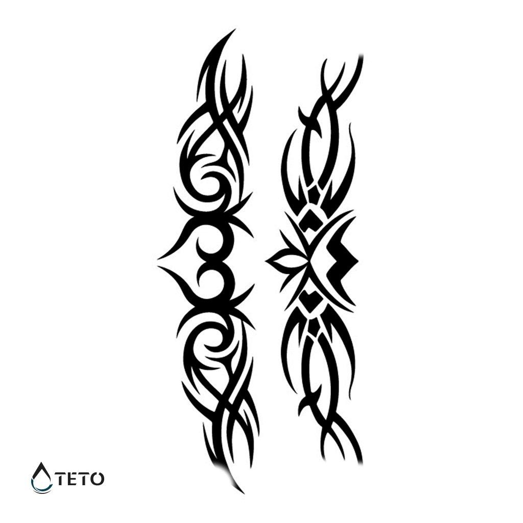Náramky, Podvazky - Tribal - Set