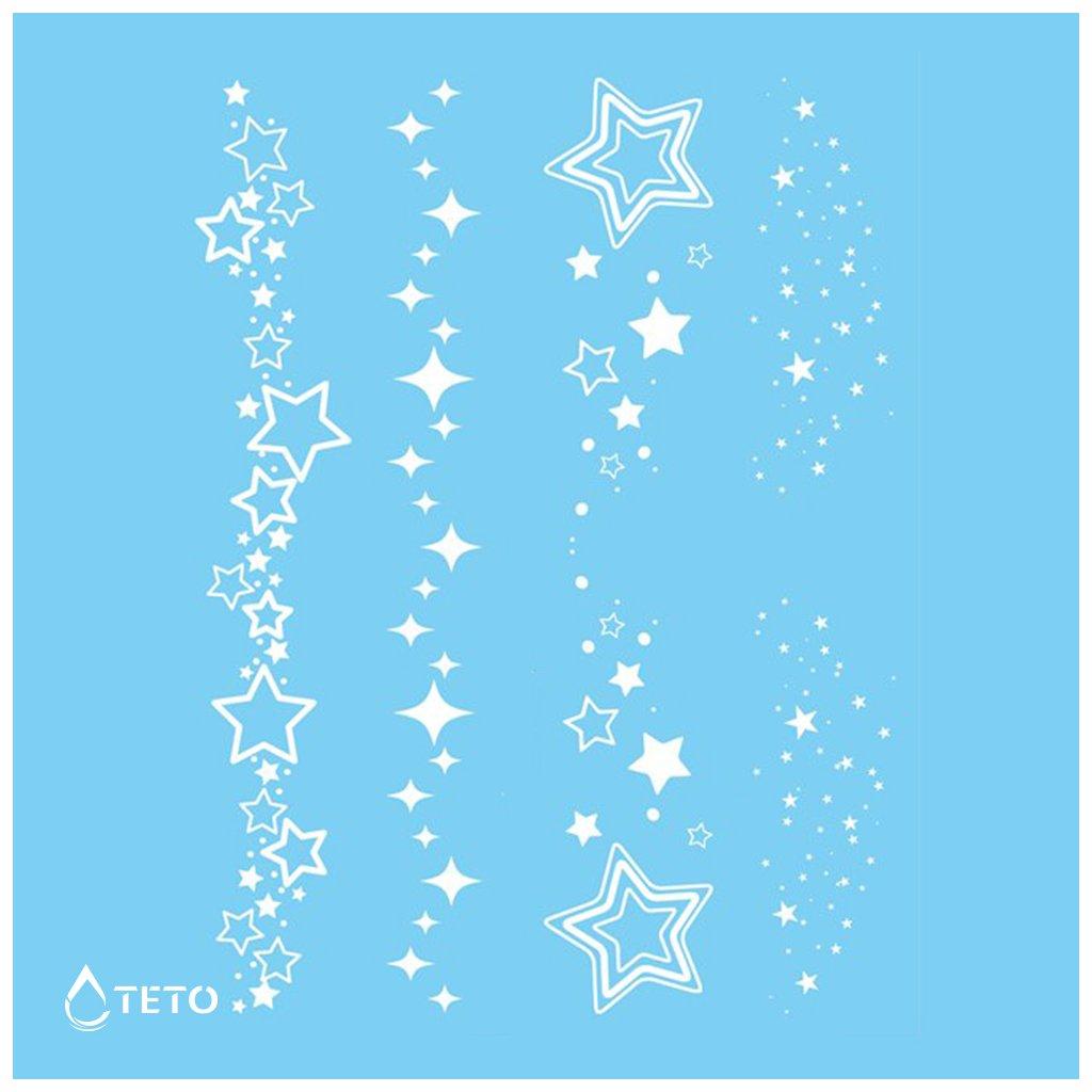 Hvězdy - Bílé - set