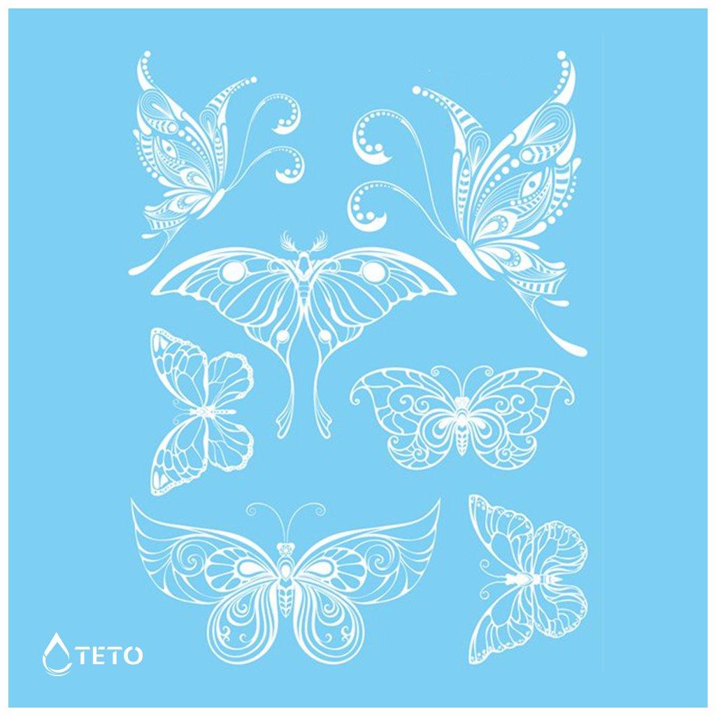 Motýli - Bílé - set