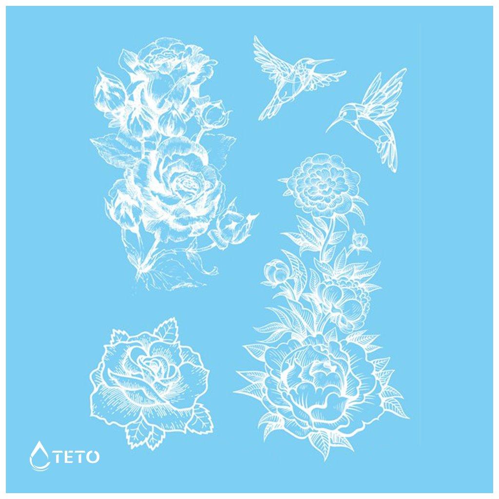 Květiny - Bílé - set