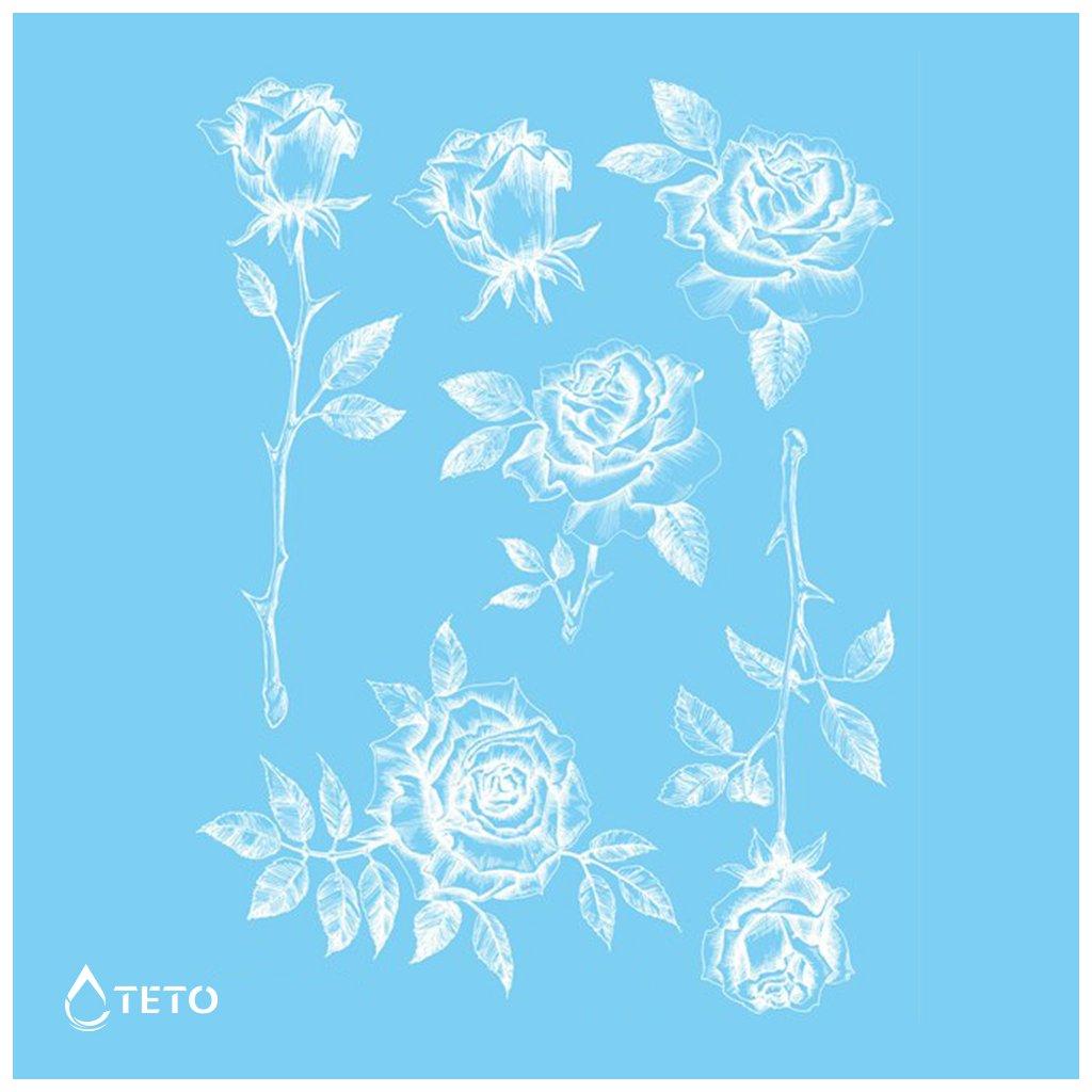 Růže - Bílé - set