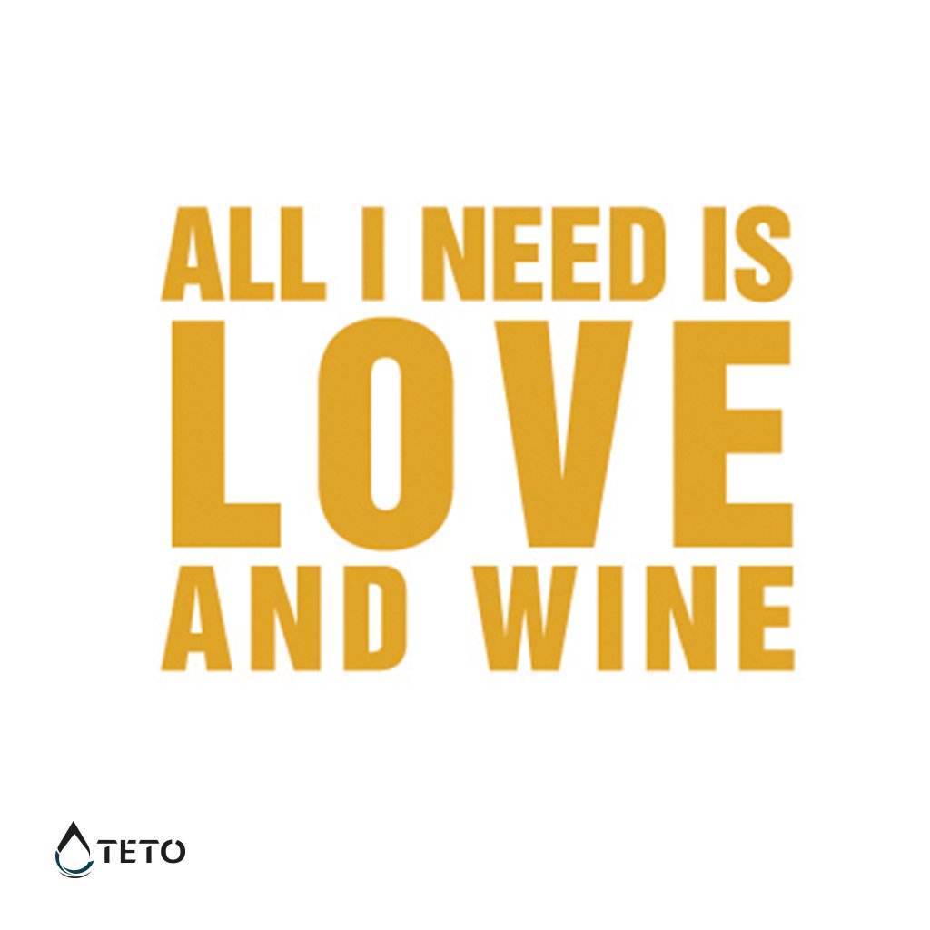 Vše co potřebuji je láska a víno - metalické