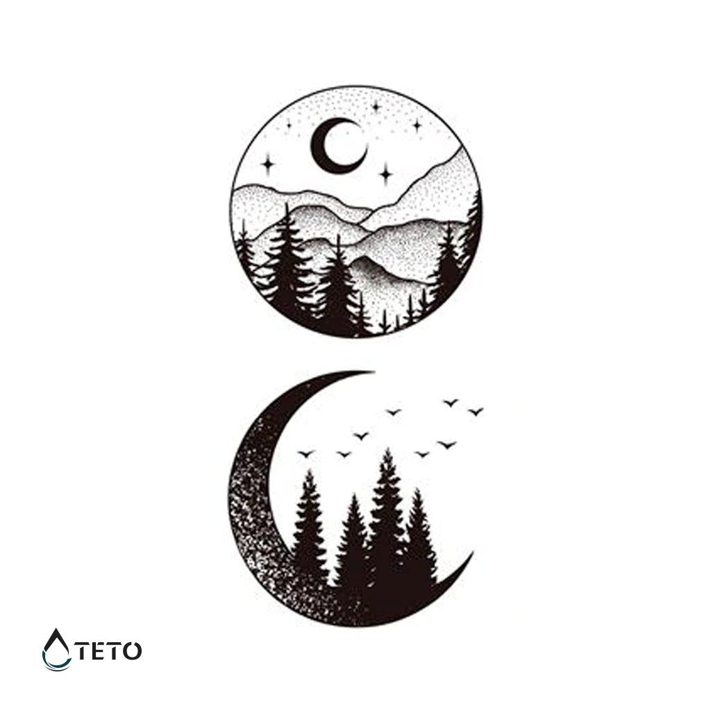 Hory - Měsíc - set