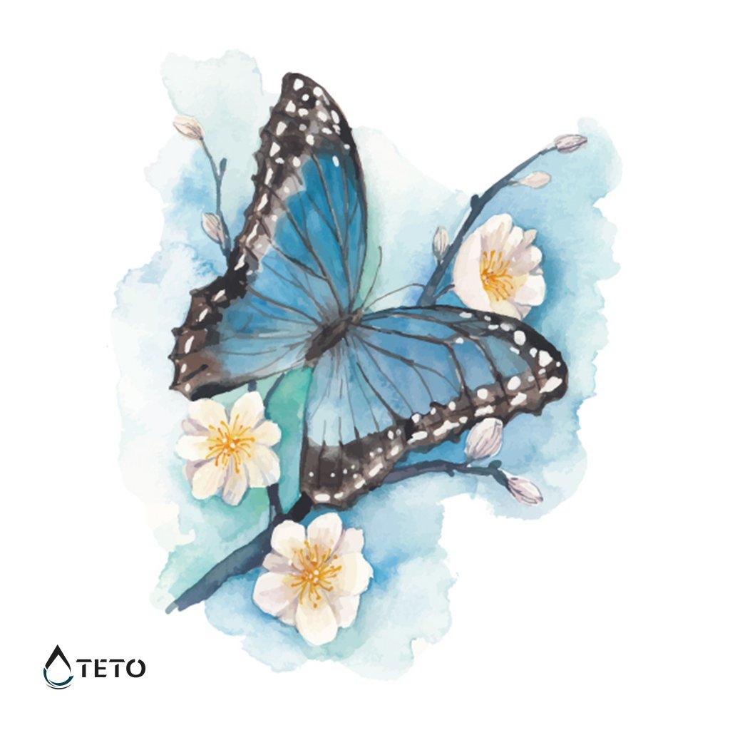 Motýl - třpytivý