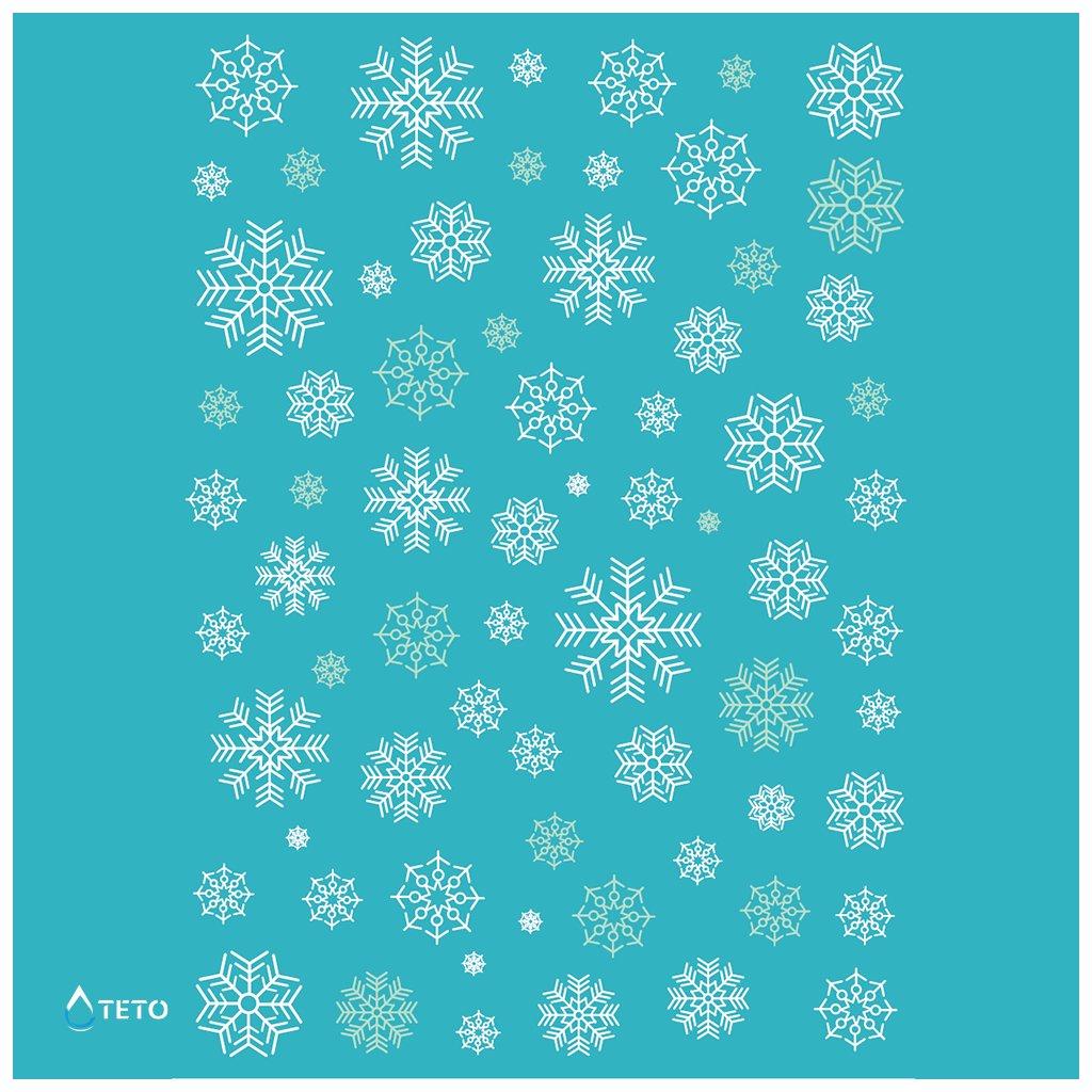 Sněhové vločky - bílé - set