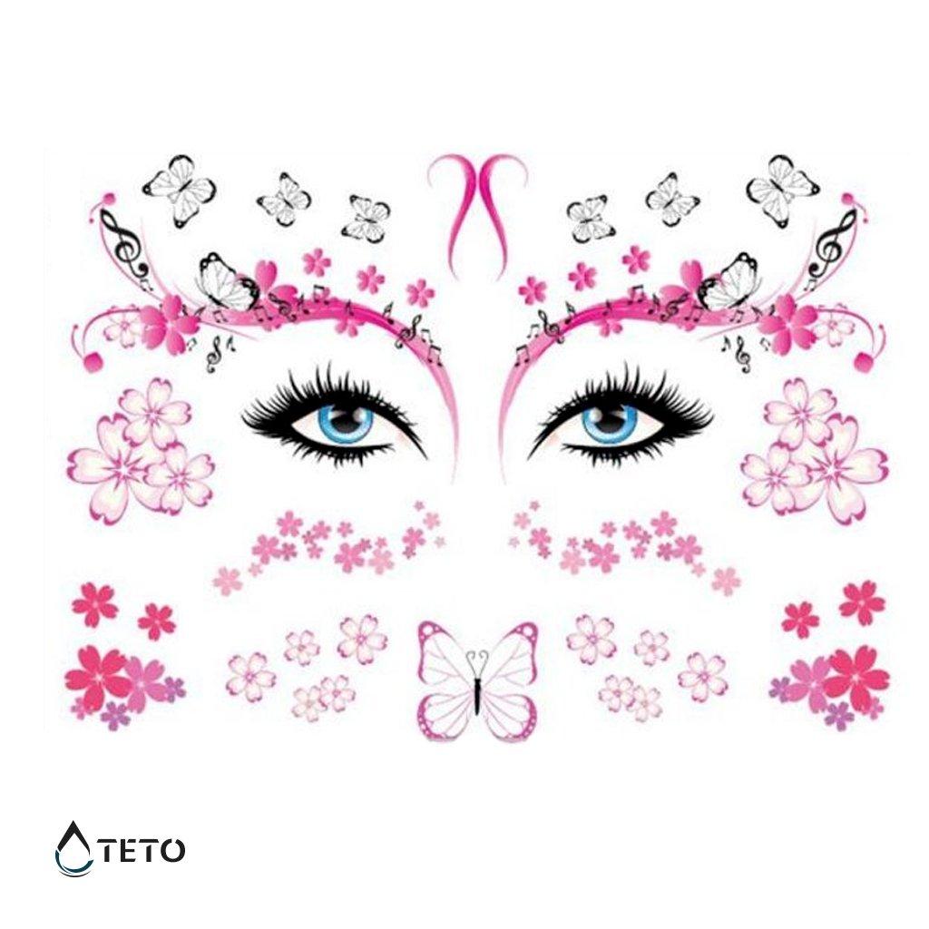 Obličej motýli - třpytivé - set