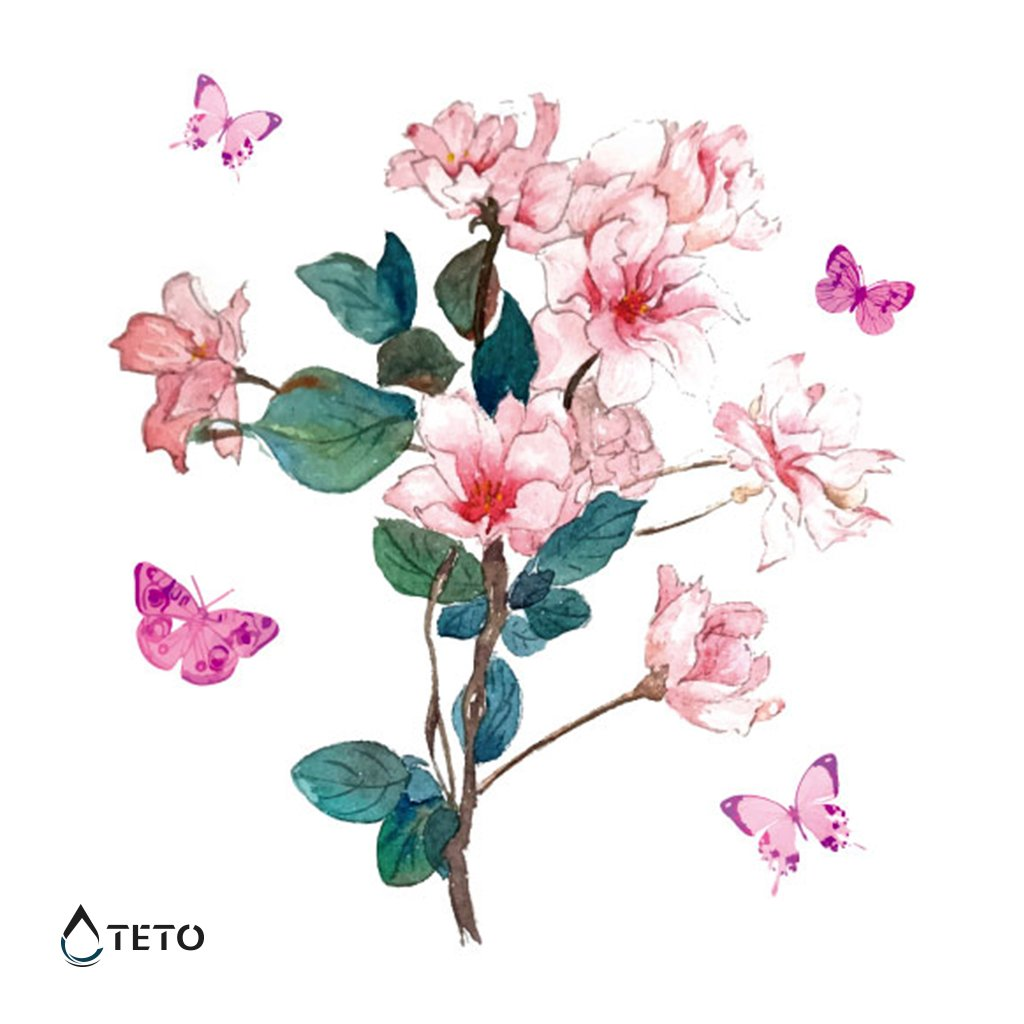 Květina s motýli
