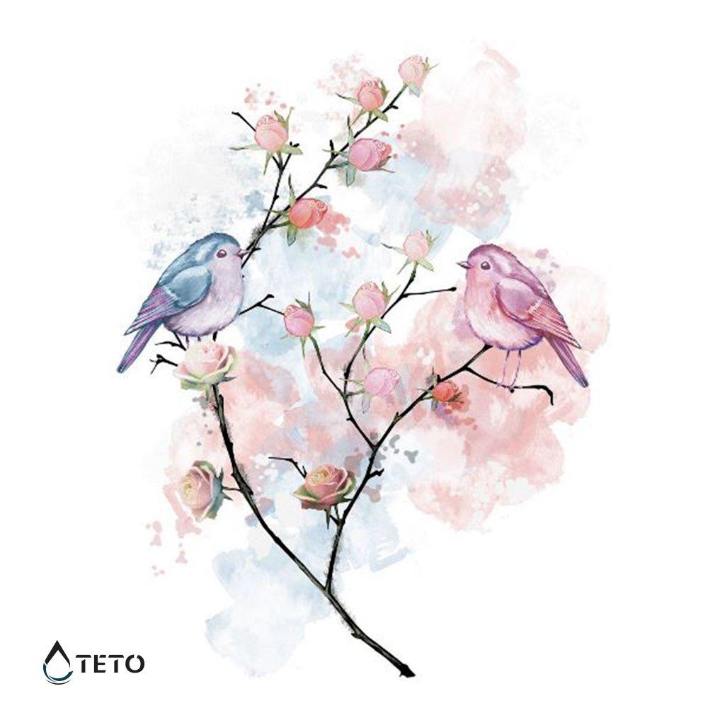 Papoušci na větvičce