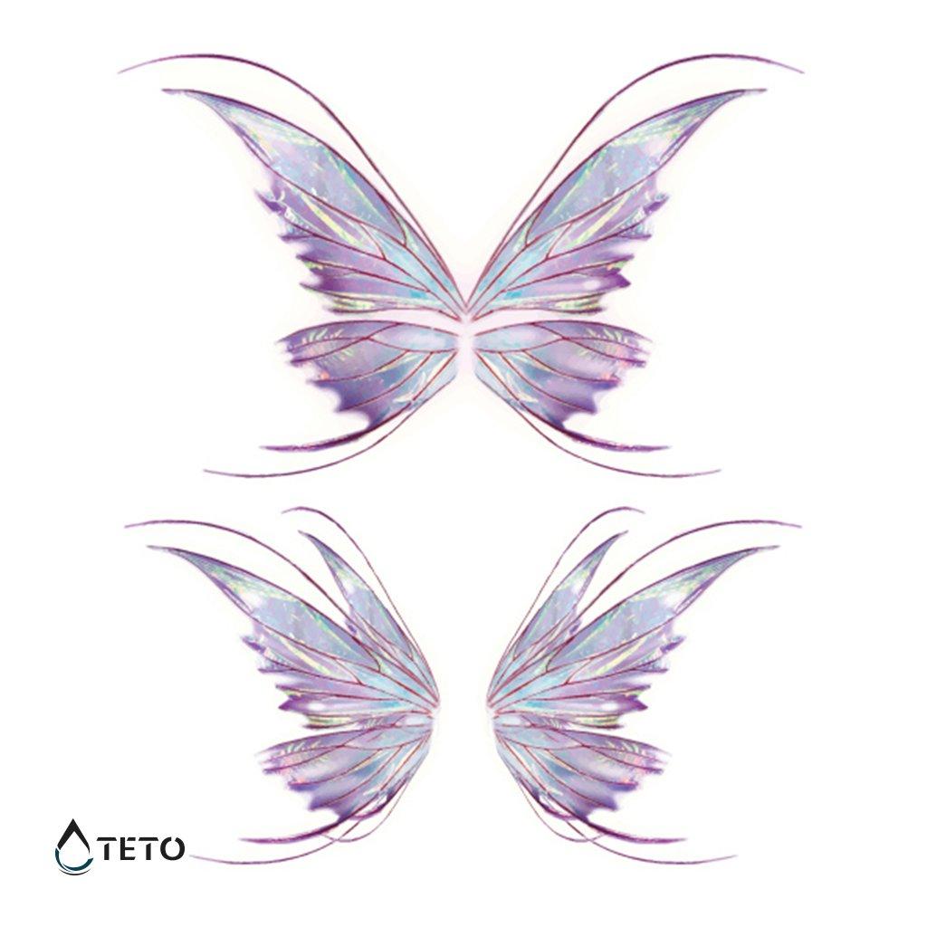 Motýli - třpytivé - set