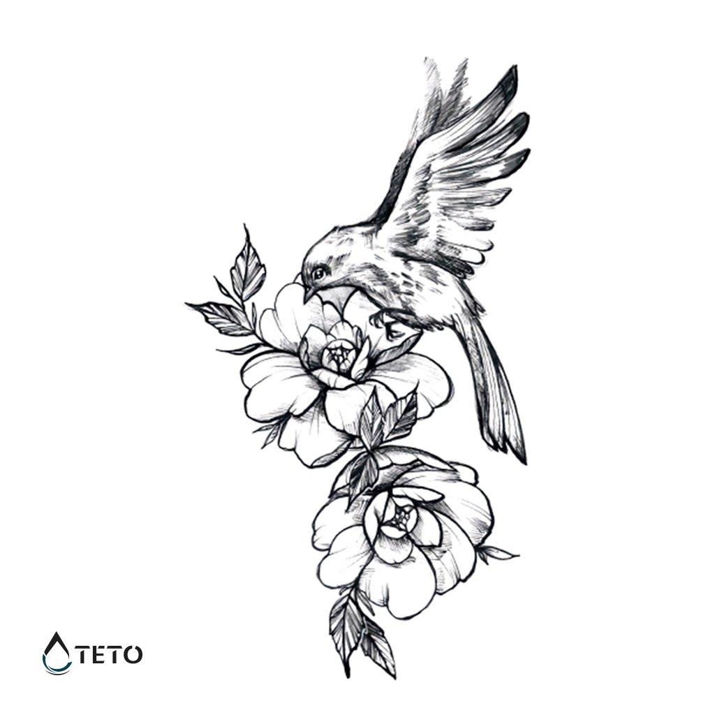 Pták na květině
