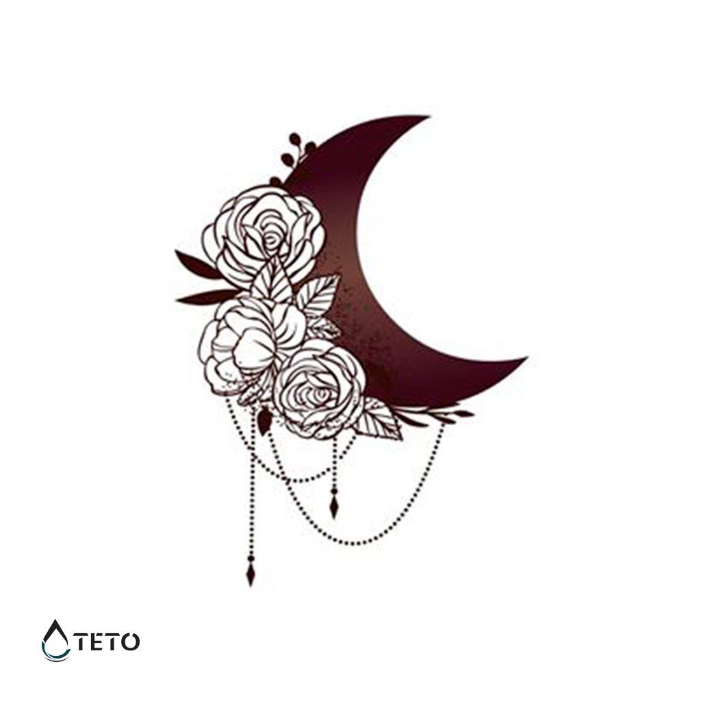 Měsíc s květinami