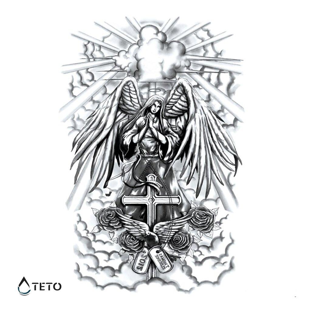 Anděl – Thomas Eldridge – Celá záda