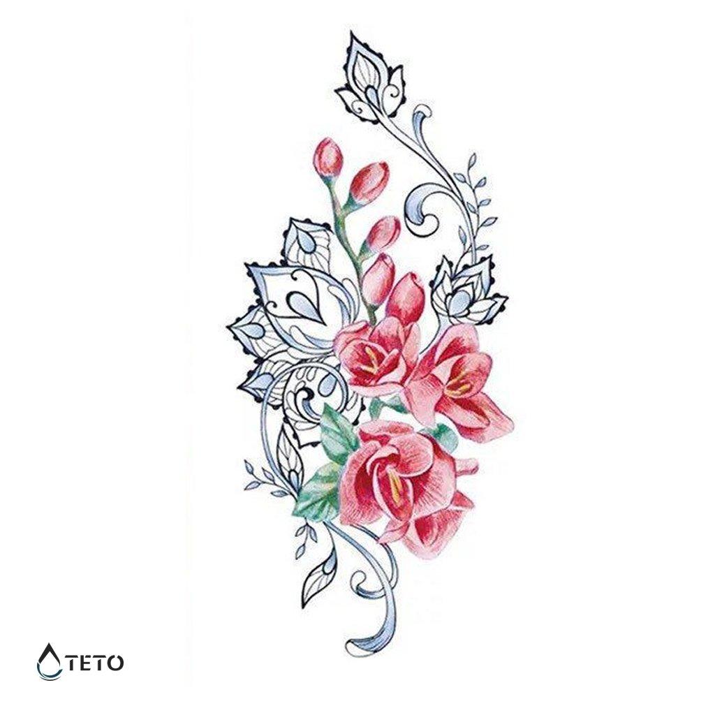 Pás květin