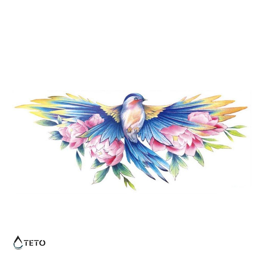Pták s růžemi