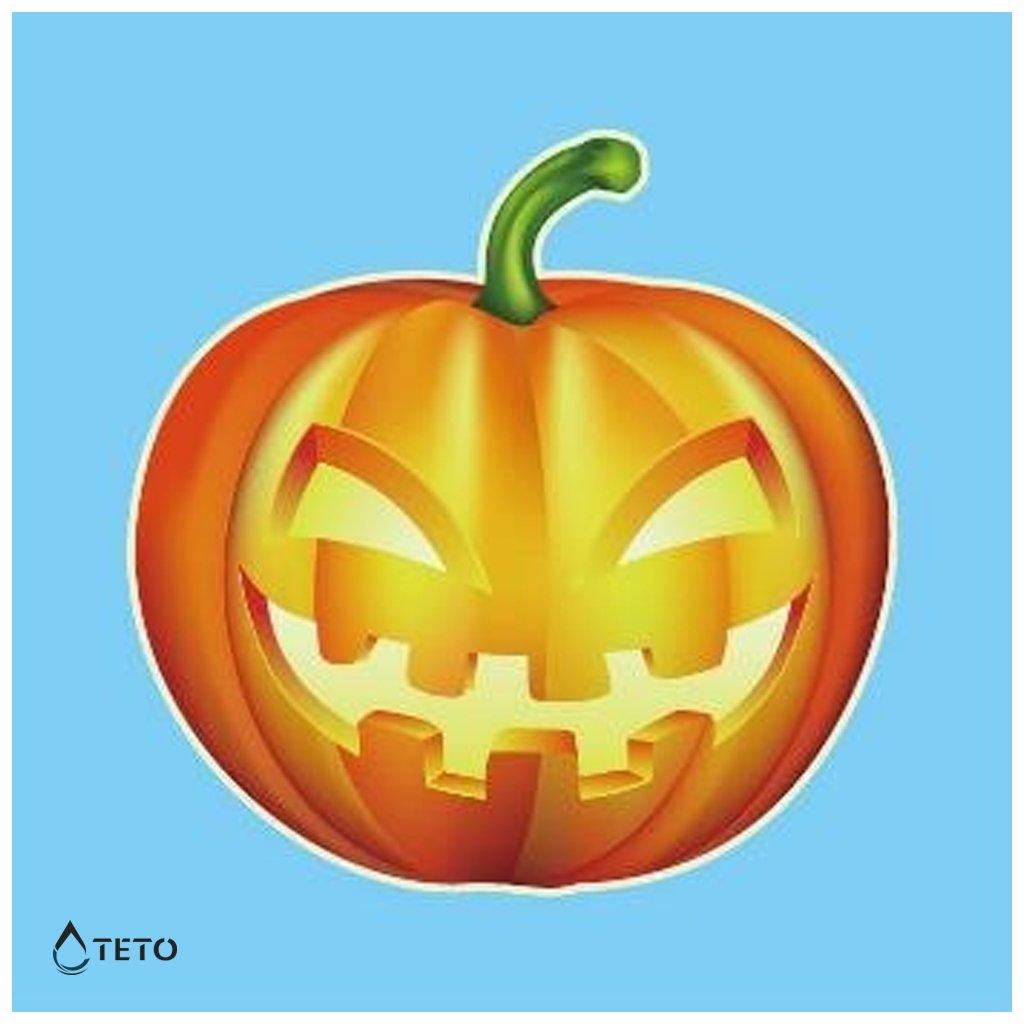 Halloweenská dýně - svítící