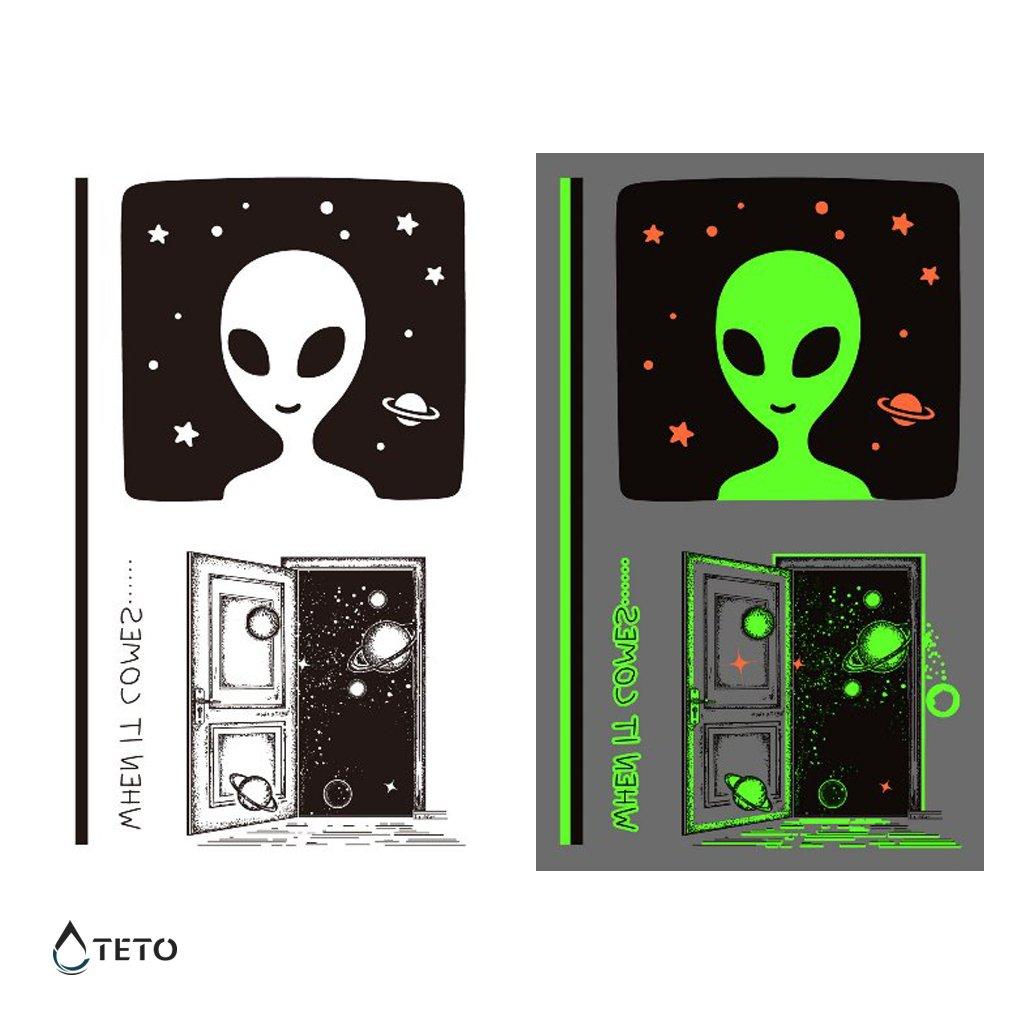 Mimozemšťan a astronaut - set - svítící