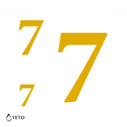 Číslo 7 – metalické – set