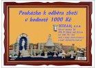 Poukázka k odběru zboží v hodnotě 1000 Kč