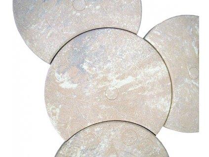 šlapák kruhový - vykrojený
