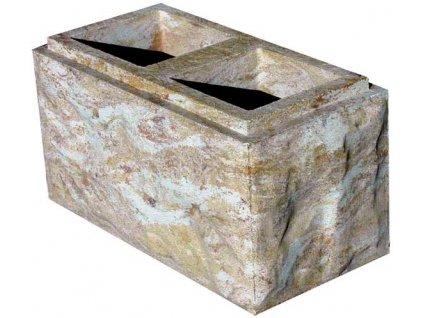 blok FINAL - DUO tesaný čtyřstranný s osazením (2D; 2K)