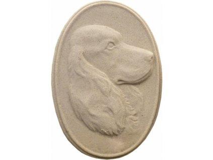 hlava psa - reliéf