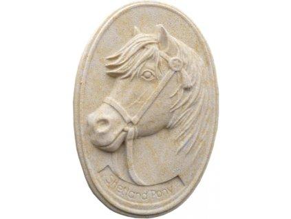 hlava koně - reliéf