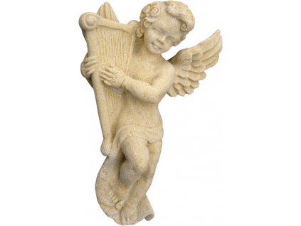 andílek s harfou