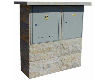 """přístřešek """"2003 PL-ER"""" pro plynoměr a typizovaný rozvaděč"""