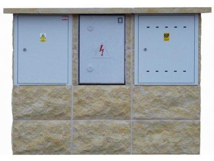 """přístřešek """"2003 PL-EP-ER"""" pro plynoměr, typizovaný rozvaděč a pojistkovou skříň"""