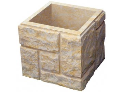 blok sloupkový HAKLÍK  tesaný čtyřstranný s osazením