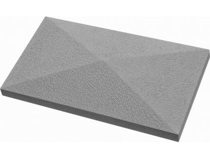 Hlavice sloupková obdélníková - strukturovaný povrch