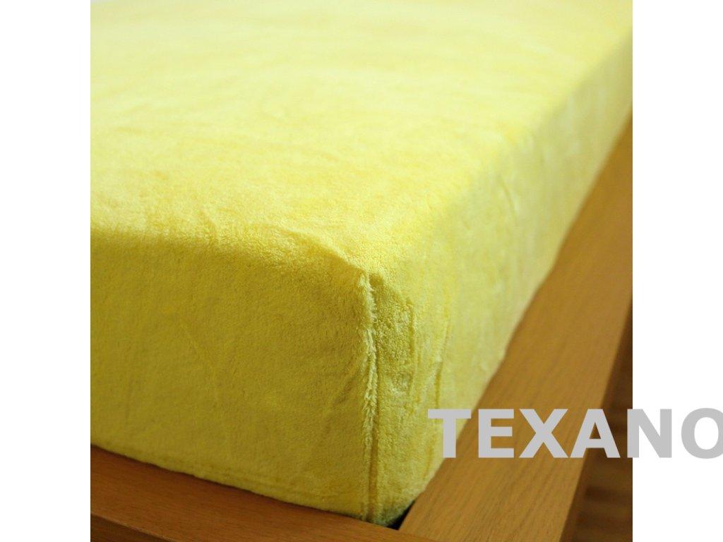 prosteradlo 180x200 mikrodovoz zlute (1)