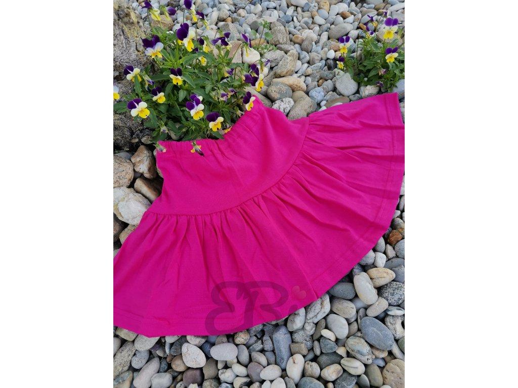 Dětská jednolícová sukně