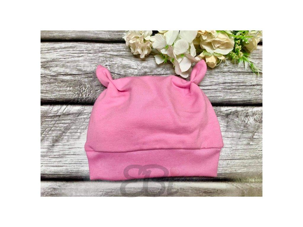 Mimi čepice - růžová pastel