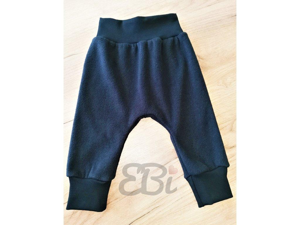 Mimi zimní rostoucí kalhoty - černý fleece