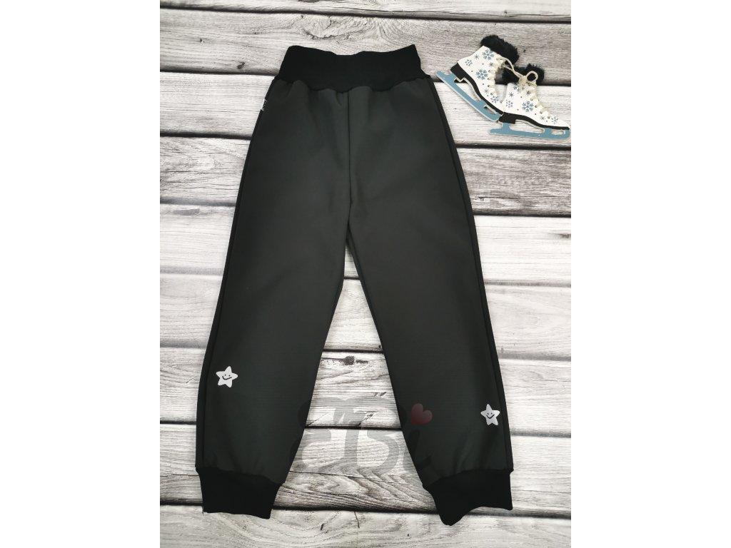 Zimní softshellové kalhoty - hvězdičky